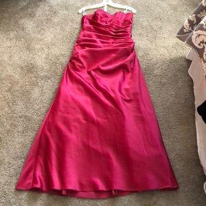 Fuchsia Strapless Gown